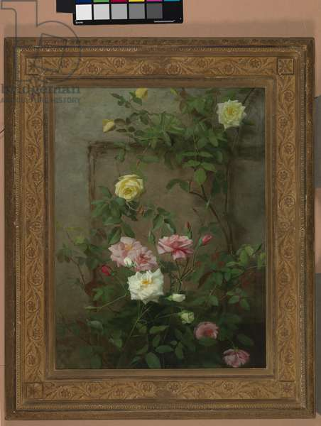 Roses in Bloom, 1881 (oil on canvas)