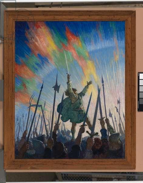 The pledge, 1921 (oil on canvas)