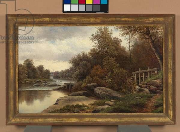 Mill Scene, 1885 (oil on canvas)