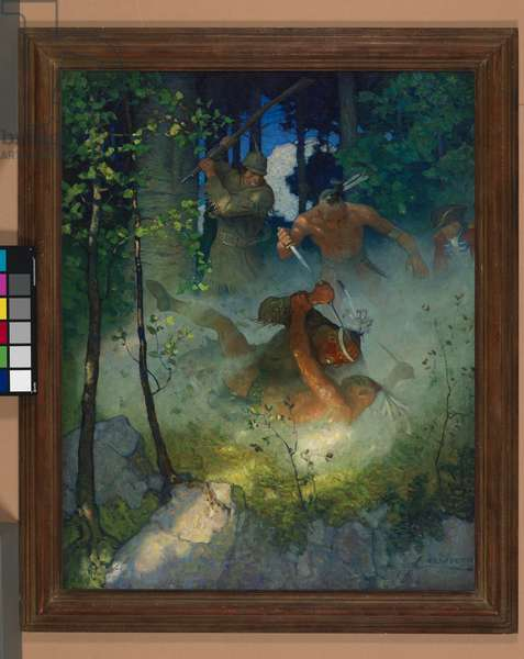 The Fight in the Forest   The battle was now entirely terminated, with the exception of the protracted struggle between Le Renard Subtil and Le Gros Serpent, 1919 (oil on canvas)