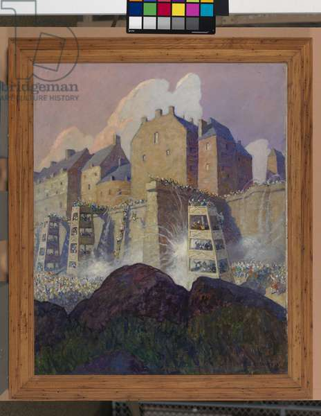 The battle of Stirling Castle, 1921 (oil on canvas)