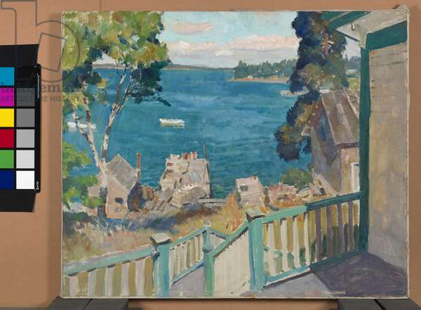 Untitled (view of Port Clyde Harbor), c.1931/1935 (oil on canvas)
