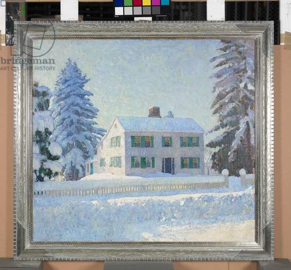 Zirngiebel House, Needham -- Heavy Snow, c.1922 (oil on canvas)