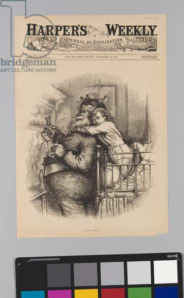 Caught, 1881 (wood engraving on paper)