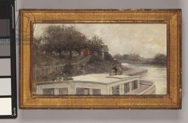 Leisurely Drifting through Farm Lands, 1896 (oil on canvas)