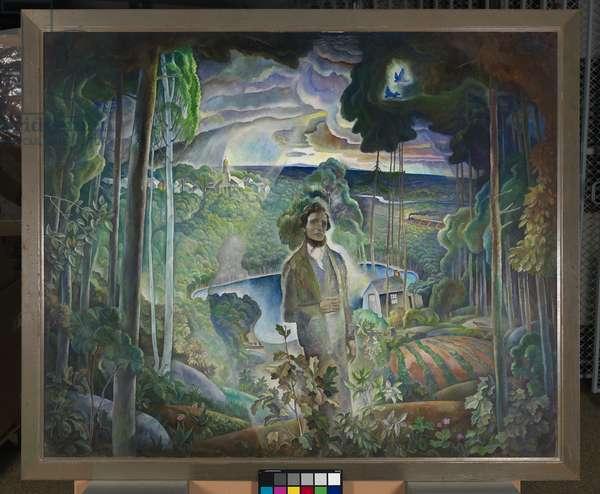 Walden Pond Revisited, 1932/1933 (oil on canvas)