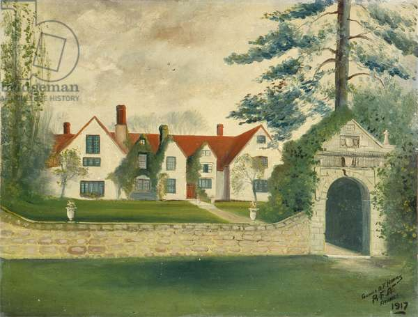 Manor House in France, 1917 (oil on canvas)