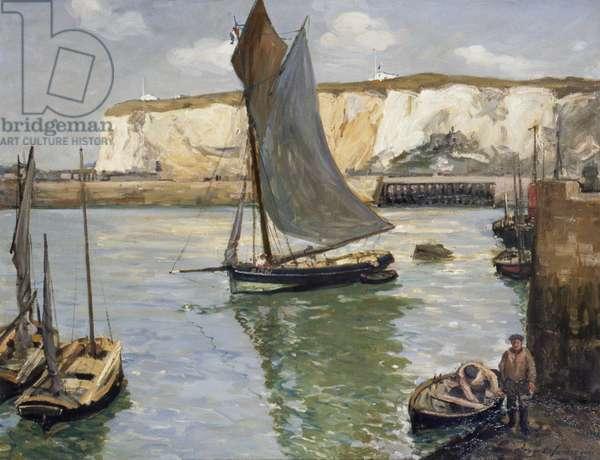 Dieppe Cliffs, 1904 (oil on canvas)