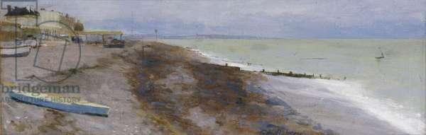 Beach Scene (oil on canvas)