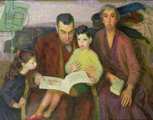 The Behrend Family, 1927 (oil on canvas)