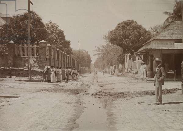 Street scene, Kingston, Jamaica (b/w photo) [1999/221/1/62/82]