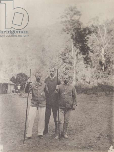 Sitwell and colleagues in Myanmar, January 1897 (b/w photo) [2003/071/1/1/2/33]