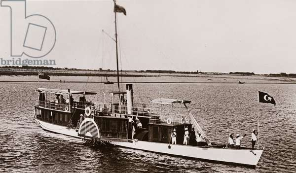 Governor's boat, called the Elfin on the Blue Nile, c.1906 (b/w photo) [2003/222/1/2/82]