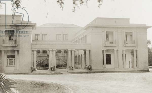 Government House, Lahore, 1921 (b/w photo) [2001/243/1/1/2/149]