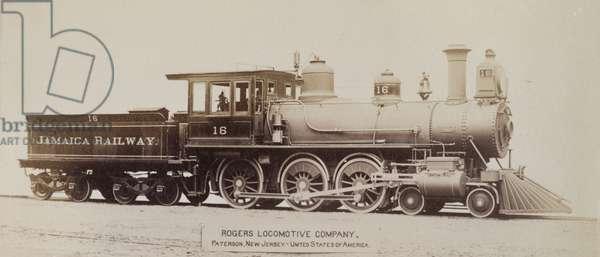 No. 16 steam locomotive in Jamaica (b/w photo) [1999/221/1/62/48]