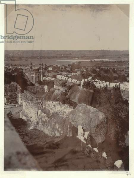 Golkonda Fort, Hyderabad, c.1905 (b/w photo) [2003/071/1/1/3/76]