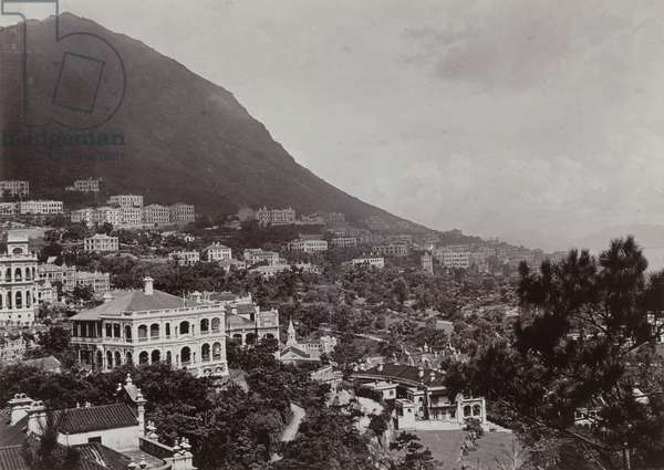Residential area on Hong Kong Island, c.1903 (b/w photo) [1998/028/1/2/36]