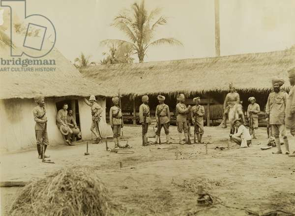 British and Indian soldiers in Burma, c.1891 (b/w photo) [2003/001/001/4]
