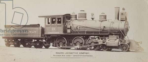 No. 19 steam locomotive in Jamaica (b/w photo) [1999/221/1/62/49]