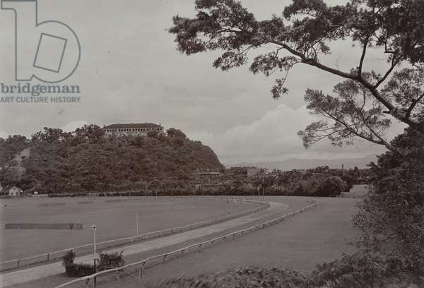 Happy Valley Horse Racing Track, c.1903 (b/w photo) [1998/028/1/2/38]