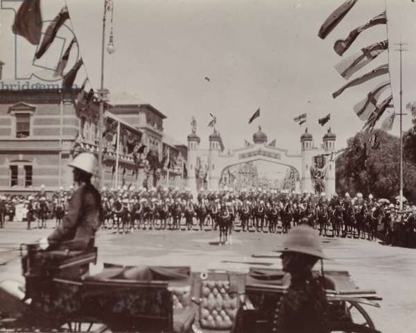 Cavalry parade for the Duke of Connaught, 1910 (b/w photo) [1995/076/1/4/1/94]