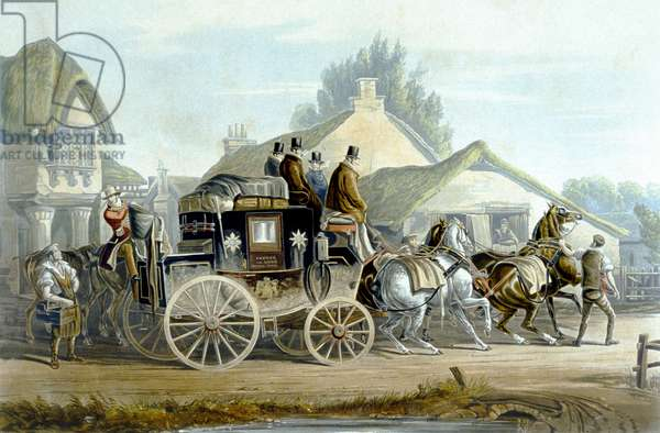 All Right, from 'Fores Coaching Recollections', engraved by J. Harris (colour litho)