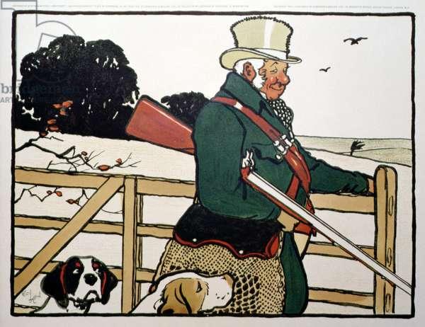 Old English Sports and Pastimes; Shooting (litho)