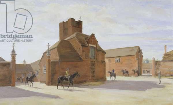 Park House Stables, Kingsclere, 1983 (oil on canvas)