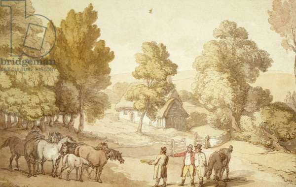 The Horse Trader, 1816 (w/c and ink on paper)