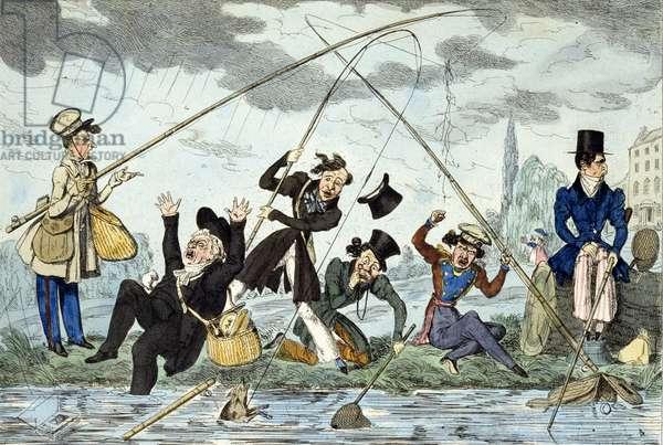 Waltonising or Green-Land Fisherman, c.1830 (coloured engraving)