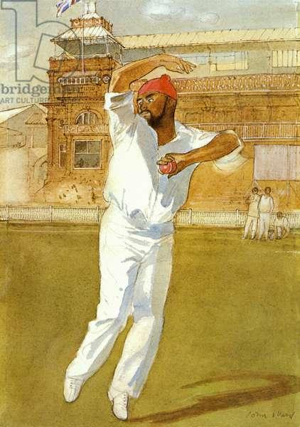 Bishan Bedi (b.1946) (colour litho)