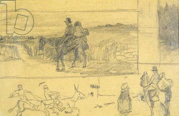 An Irish Cart (pencil on paper)