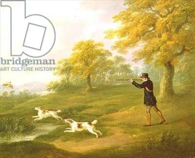Woodcock Shooting, 1820 (oil on canvas)
