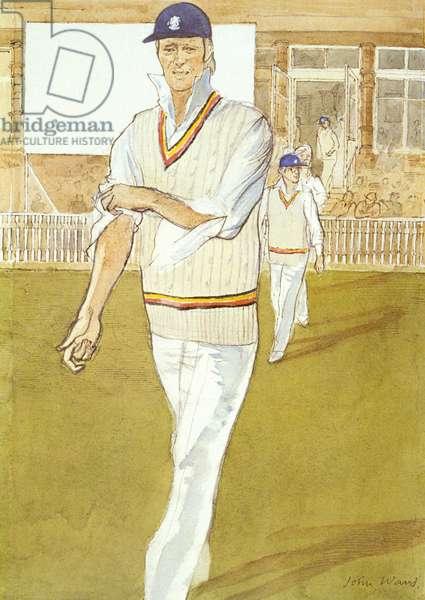 Tony Greig (b.1946) (colour litho)