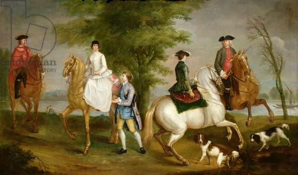 Family Hunting Party, 1755 (oil on canvas) (pair to 101136)