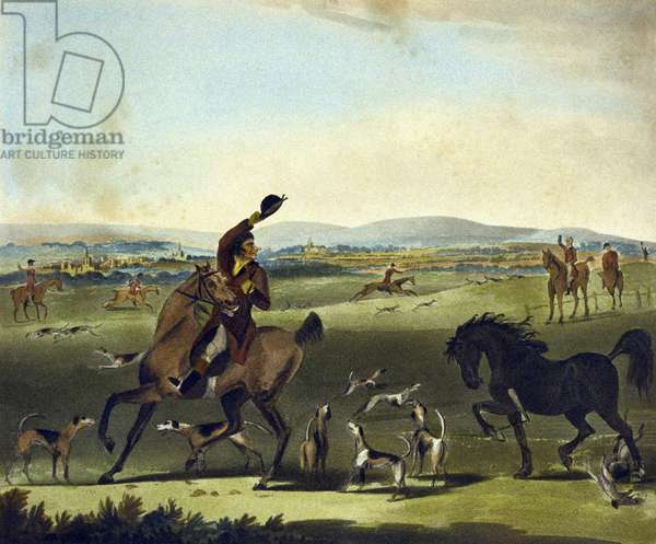 A Check, from The Pytchley Hunt, engraved by F. Jukes (1845-1879), 1790 (colour litho)