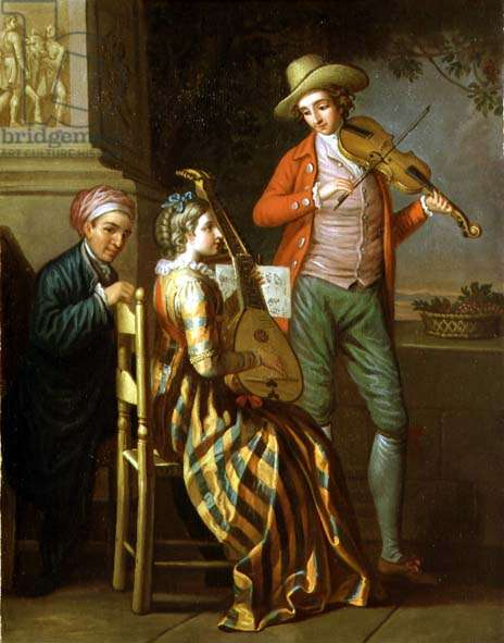 A Neapolitan Music Party, c.1775 (oil on canvas)