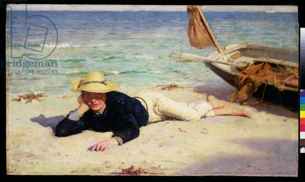 A Hot Summer Day, 1885 (oil on canvas)