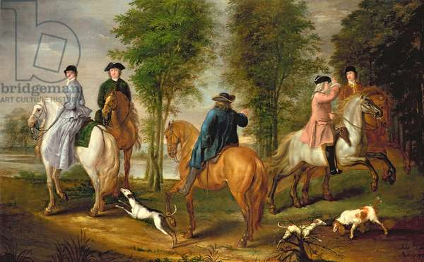 Family Hunting Party, 1756 (oil on canvas) (pair to 101135)