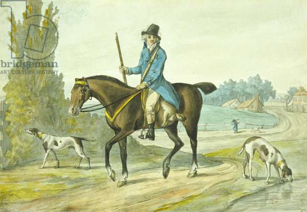 The Return from the Sports of the Field, 1786 (coloured engraving)