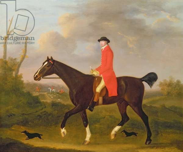 A Gentleman on his Hunter riding to Hounds, 1783 (oil on canvas)