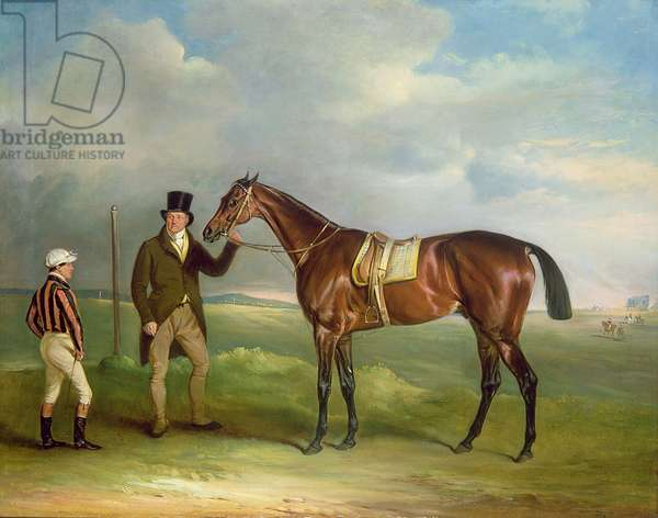 The Duke of Cleveland's 'Chorister', held by trainer John Smith with jockey John Day Snr., at Doncaster, 1831 (oil on canvas)