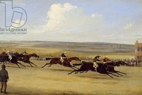 The 1850 Cambridgeshire Stakes: The Finish (oil on canvas) (see also 266406)