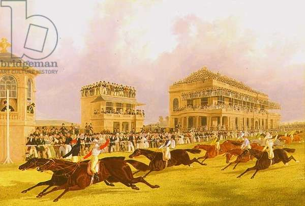 The Dead Heat for the Doncaster Great St. Leger Stakes between 'Charles XII' and 'Euclid', 1839 (oil on panel)