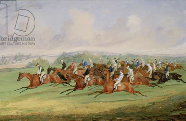 The Start of the Derby, 1844 (oil on canvas)