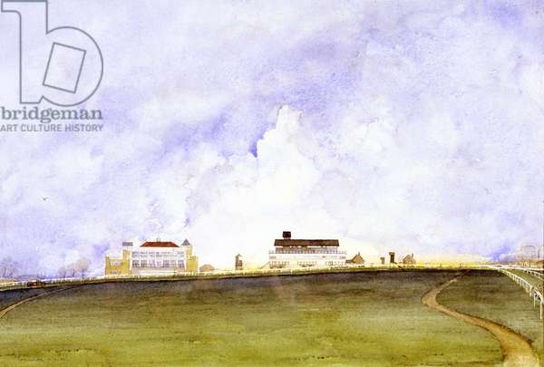 Towcester Racecourse, Early Morning, 1979 (w/c on paper)