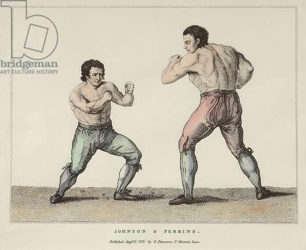 Johnson & Perrin (coloured engraving)