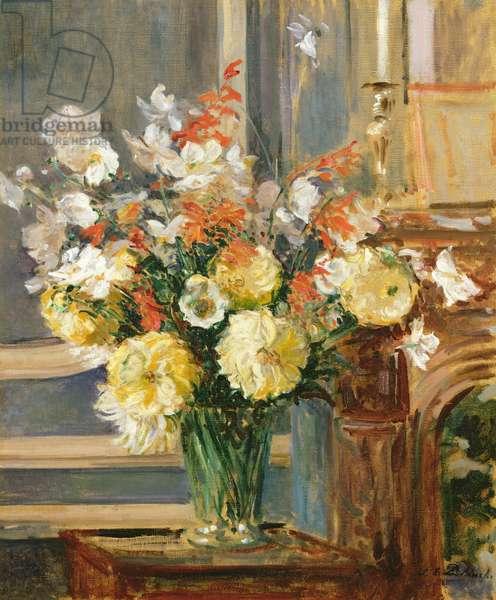 Summer Flowers (oil on canvas)