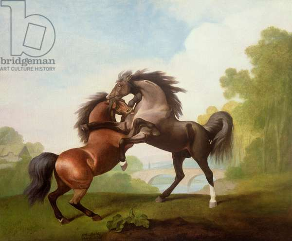 Horses Fighting, 1791 (oil on canvas)