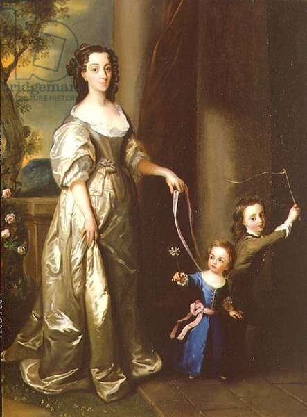 Portrait of Mrs Thomas Fane with her children John and Anne (oil on canvas)